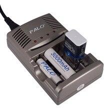 PALO 1.2V AA AAA pil şarj cihazı 9V nimh şarj edilebilir pil pil şarj cihazı için 1.2V AA AAA 9V NiCd NiMh pil