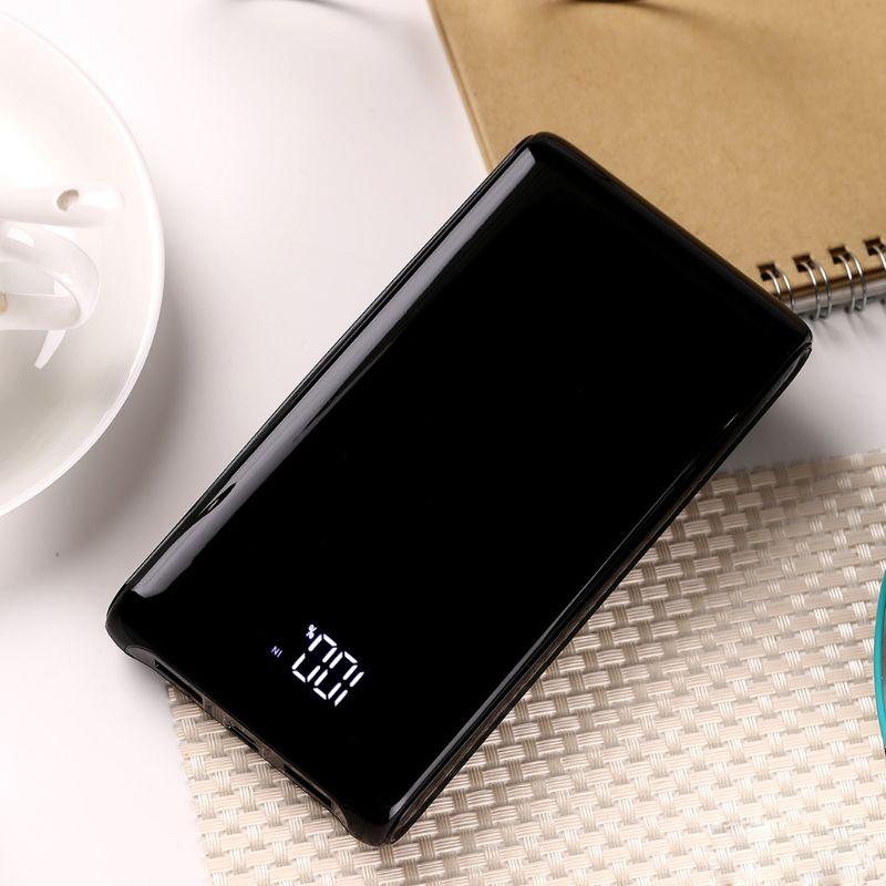 (Sin batería) 5V 2A pantalla LCD DIY 6*18650 carcasa de batería portátil caja externa portátil sin batería Powerbank 18650 Protector