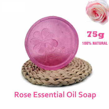 Hand made Damask Rose Essential Oil Soap Facial Face Whitening Bath Baby