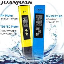 Digitale PH-Meter 0-14 Messbereich 3 in 1 Temperatur TDS EC Tester 0-9000 ppm Wasser qualität Automatische Monitor Werkzeug 48% off