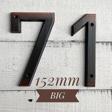 Состаренная бронза 152 мм очень большой номер дома номер двери адрес номер цинковый сплав винт установлен открытый адрес знак#0-9