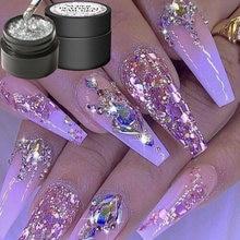 8 цветов блеск для ногтей УФ гель акриловая пудра блестки платина