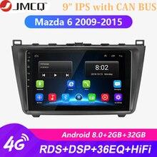 Android 8,1 2DIN 2G + 32G Unidad Radio Audio reproductor Multimedia para Mazda 6 Rui ala 2009-2015 GPS de navegación + puede BUS