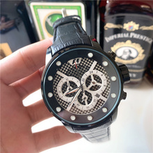 2020 Luxury Brand AAA Mens Quartz Watches Dial Chronograph Digital Leather Sport