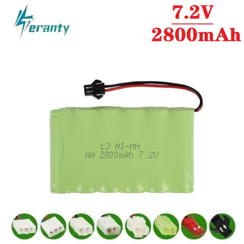 2800mah 7.2v Rechargeable Battery For Rc Toys Cars Tanks Robots Gun Boat NiMH Battery AA 7.2v 2400mah Battery Pack 1Pcs To 10Pcs