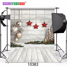 цены SHENGYONGBAO Vinyl Custom Photography Backdrops Prop Christmas Day Theme Photography Background 10383