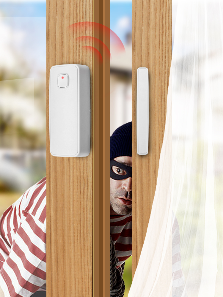 KERUI Contact-Sensor Tuya Door-Gate-Entry Window Wifi-Door Alexa Compatible Smart Home