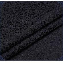 Alta qualidade preto estilo floral damasco seda cetim brocado jacquard tecido traje estofos móveis cortina material de vestuário