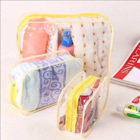 Ainvoev Travel Transparent Cosmetic Bag PVC Women Zipper Clear Makeup Bags Beauty Case Make Up Organizer Storage Bath Toiletry Multan