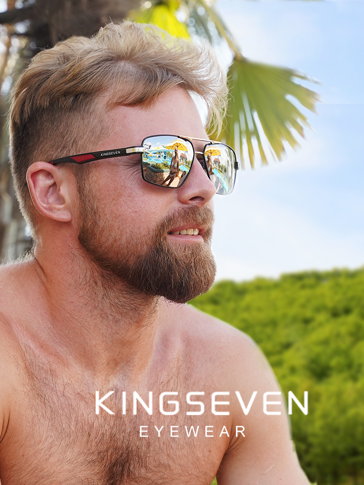 KINGSEVEN Men's Sunglasses Coating Polarized Aluminum Brand Design Mirror 7719 Lens Oculos-De-Sol