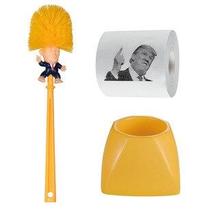 Креативные инструменты для уборки ванной комнаты, щетка для унитаза Trump с держателем, 1 шт., набор аксессуаров для домашней уборки