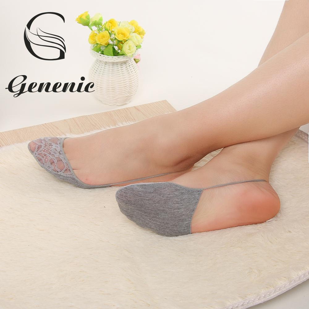 New Ladies Women Comfortable  Invisible Liner No Show Peds Low Cut Socks 2Pairs