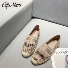 Prowow  Spring Summer Breathable Mesh Beach Luxury Brand Loafer Flats Shoes Women Zapatos Mujer
