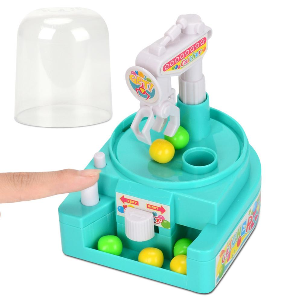 Kids Mini Manual Catching Balls Toy Machine Candy Gripper Interactive Game Children Toy Table Game