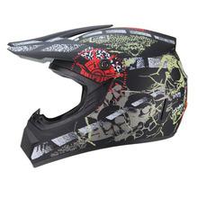 DOT nowa promocja kask motocykl off-road kask motocrossowy kask wyścigowy Downhill Mountain kask wyścigowe kask tanie tanio Całą twarz Mężczyźni ABS + PC Kaski