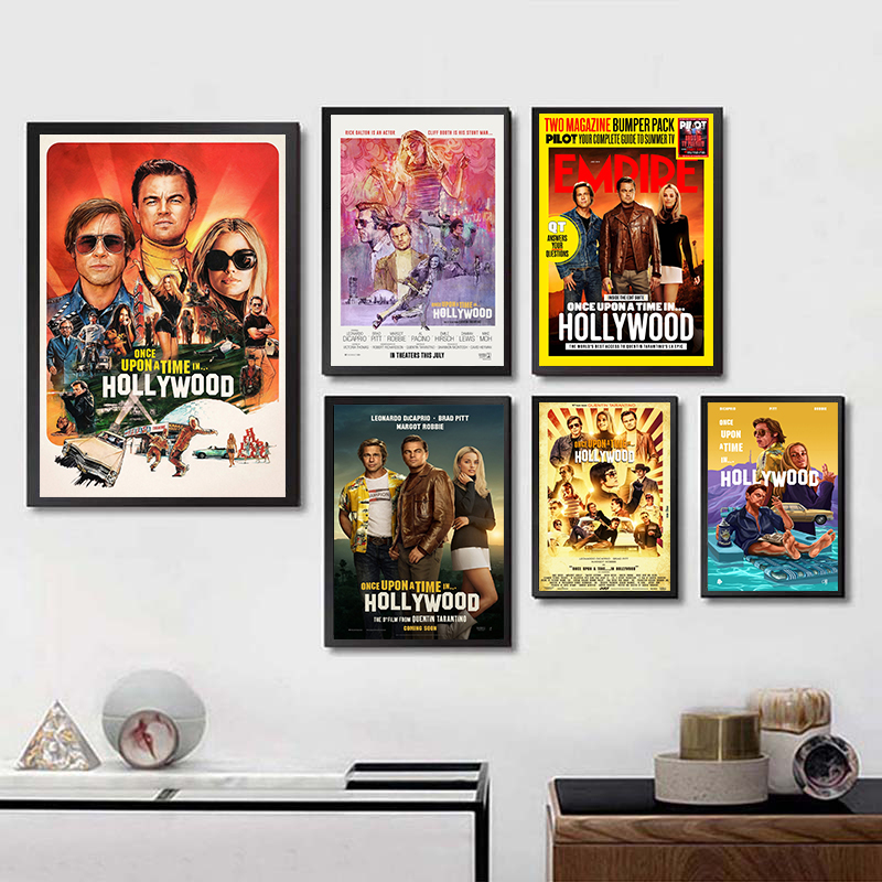 2019 Once Upon a Time in Hollywood Quentin Tarantino New Movie Art Painting Poster Wall Home Decor home art Brand image