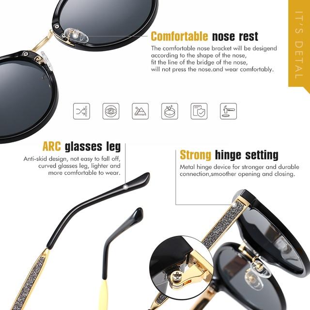 Фото круглые поляризованные солнцезащитные очки lioumo для женщин цена