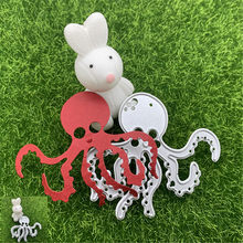 Octopus octopus marine life sponge baby octopus brother hand embossed DIY album scrapbook decoration metal cutting mold(China)
