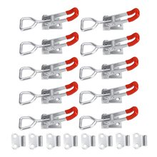10 Pack Adjustable Toggle Latch Clamp 150Kg Holding Capacity, 4001 Heavy Duty Quick Release Pull Latch Toggle Clamp(China)