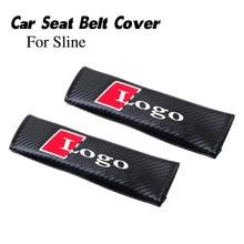 Logotipo do carro cinto de segurança protetor capa para sline s-line cinto de segurança almofadas de ombro bordado emblema para cinto de segurança estofamento 2020
