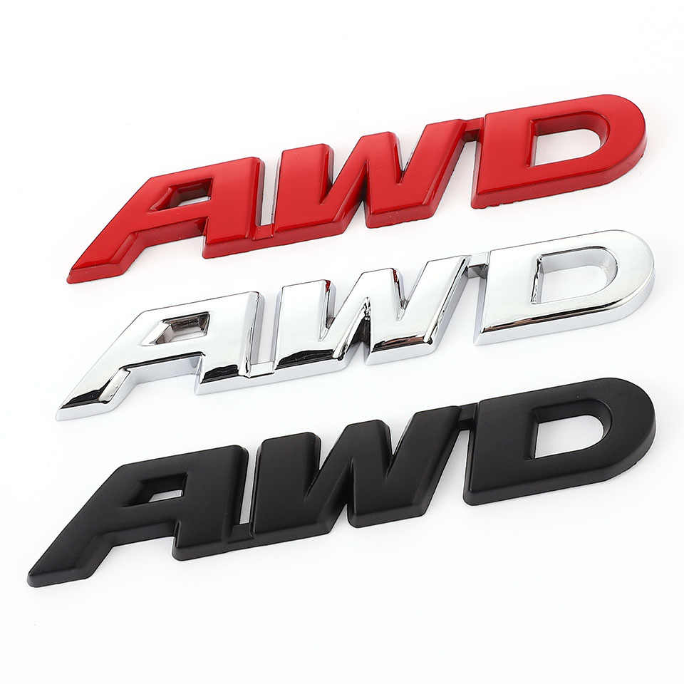 3D Metal AWD Logo Emblem Sticker 4WD Badge Decal Logo for VW Toyota Honda Ford BENZ Audi BMW Buick Opel GMC Mazda SUV Off Road