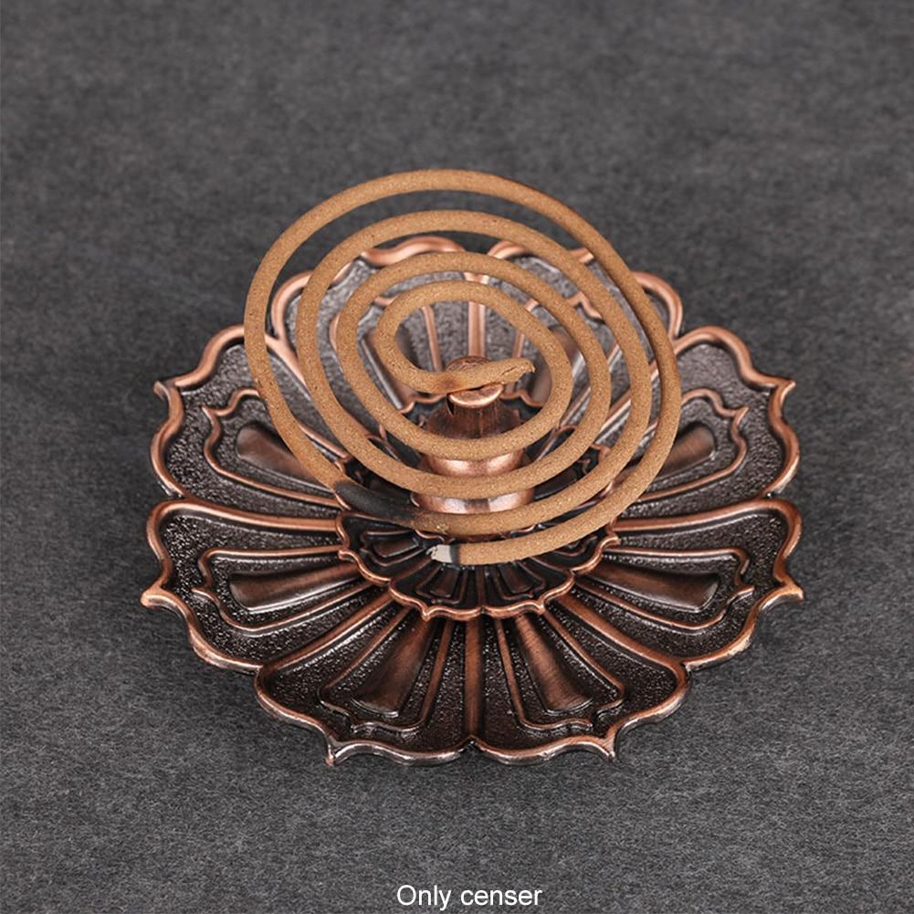 Fragrance Accessories Vintage Practical Alloy Decorations Censer Plate 9 Holes Shape Home Incense Stick Holder Portable