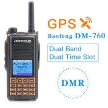 2020 Baofeng DM X DM 760 لتحديد المواقع ثنائي النطاق الطبقة 1 و 2 الطبقة الثانية المزدوج الوقت فتحة DMR الرقمية التناظرية لاسلكي تخاطب اتجاهين