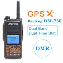 2020 baofeng DM X DM 760 gps dupla faixa nível 1 & 2 nível ii duplo tempo slot dmr analógico digital walkie talkie rádio bidirecional