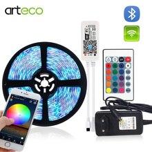 Tira de luces Led RGB/RGBW/RGBWW de 12V CC, WIFI /Bluetooth, RGB, regulador RGBW, lazo cinta Flexible, 5050 RGB