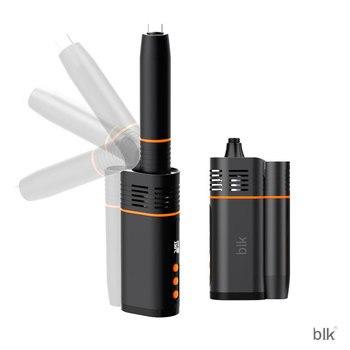 Kingtons BLK – Cigarette électronique OLED en céramique pour herbes sèches, Kit rotatif, batterie 1800mAh, stylo vapoteur pour four 1ml