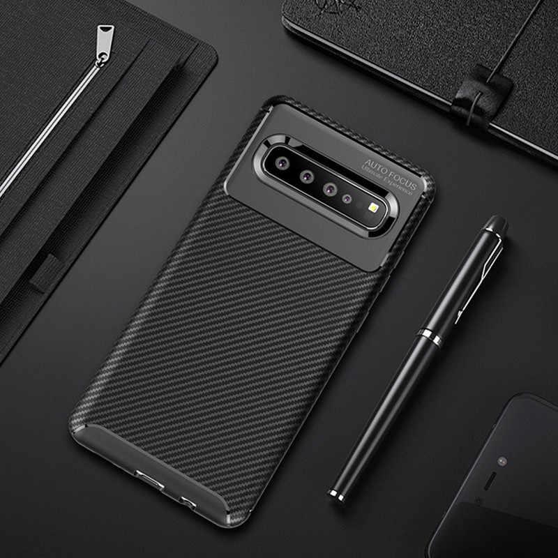 Carbon Lưng Điện Thoại Trường Hợp Dành Cho Samsung Galaxy Samsung Galaxy S9 S10 Plus 5G Note 9 10 Pro A91 A71 A51 5G Ốp Lưng J3 J7 J4 J6 A7 2018 Bao Silicon