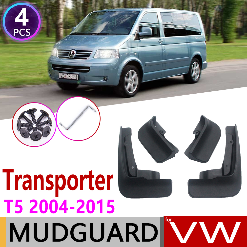 For Volkswagen VW Transporter T5 2004~2015 Mudflap Fender Mud Guard Mudguard Splash Flap Mudguard Accessories Caravelle Multivan