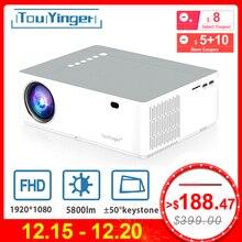 TouYinger M19 проектор Full HD 1080P 5800 люмен поддержка AC3 светодиодный домашний кинотеатр Full HD видео проектор Android tv Box опционально