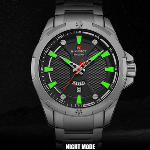Image 2 - Часы наручные NAVIFORCE Мужские кварцевые, люксовые брендовые аналоговые водонепроницаемые из нержавеющей стали, с датой
