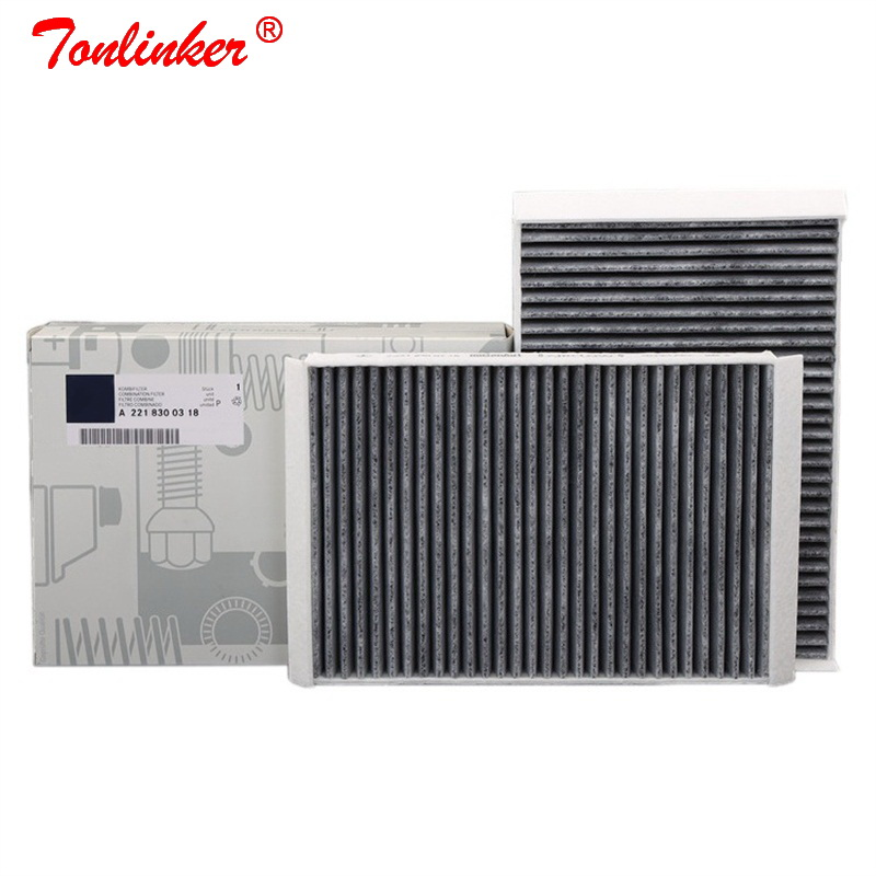 Cabin Filter A2218300038 2 Pcs For Mercedes Benz S-CLASS W221 S 250 280 300 320 350 400 450 500 600 S63 S65 AMG 2006-2013 Model(China)