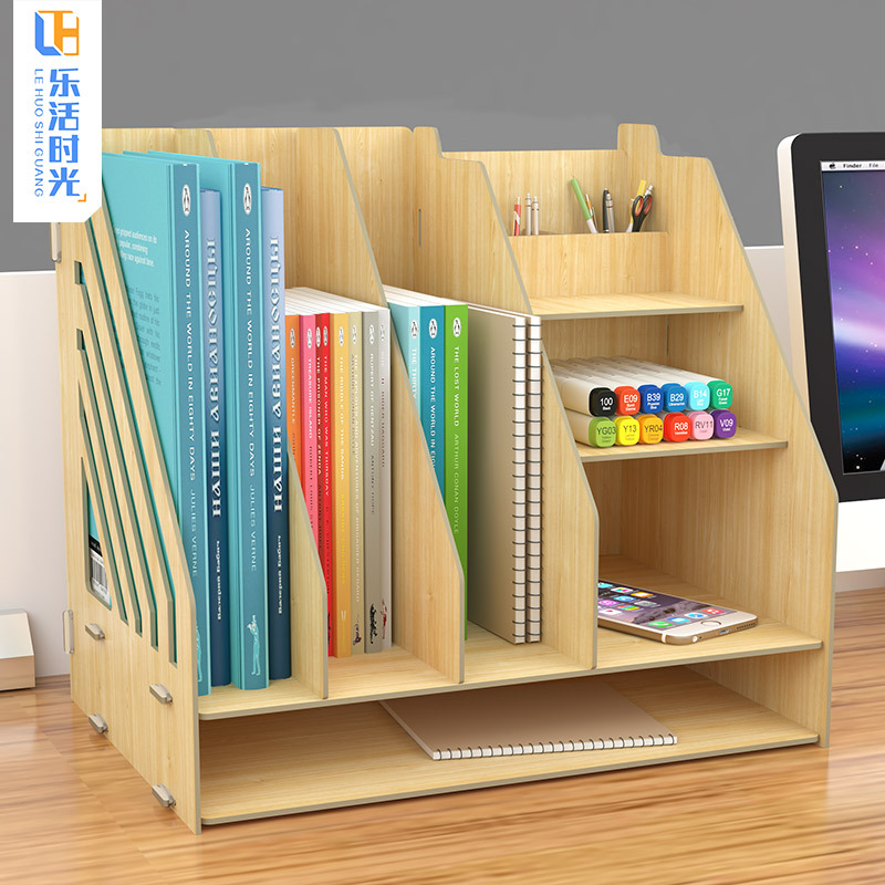 Simple Bookcase Table Floor CHILDREN'S Bookcase Minimalist Modern Storage Shelf For Student Desktop Bookshelf Cabinet