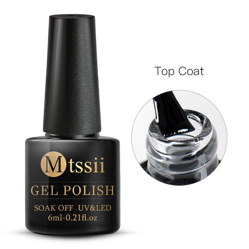 Mtssii  6ml Nail Gel Eggshell Gel Nail Polish Transparent Gel Soak Off Nail Art Gel  UV LED Varnish With Any Color Base Top Coat 28