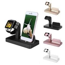 Estación de carga 2 en 1 para Apple Watch, soporte de cargador para iPhone 11 pro xs max xr 7 8, cargador básico mbrico sans fil