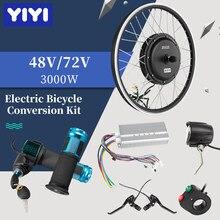 Mxus 48-72V 3000W Hub Motor Controller LCD Drossel Ebike Kit Elektrische Mortor Rad Ebike Conversion Kit elektrische Fahrrad Hinten
