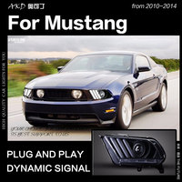 AKD Car Styling Head Lamp for Ford Mustang Headlights 2010 2014 Mustang LED Headlight DRL Hid Bi Xenon Auto Accessories
