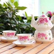6 шт Европейский керамический цветочный чайный набор Британский