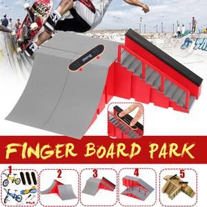 2/3/7PCS/Set Mini finger skateboard bike toy With Skate Park Ramp Parts for kids skate boards Finger Training Games Toys Gifts(China)