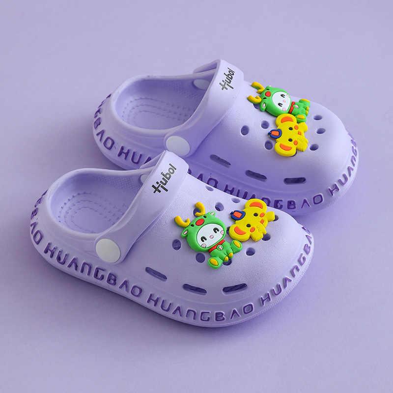 Sandali dei bambini Delle Ragazze Dei Ragazzi Carino in stile Coreano Sandali Del Bambino Del Bambino Della Spiaggia di Estate Scarpe Pantofole Al Coperto per I Bambini Luce EVA