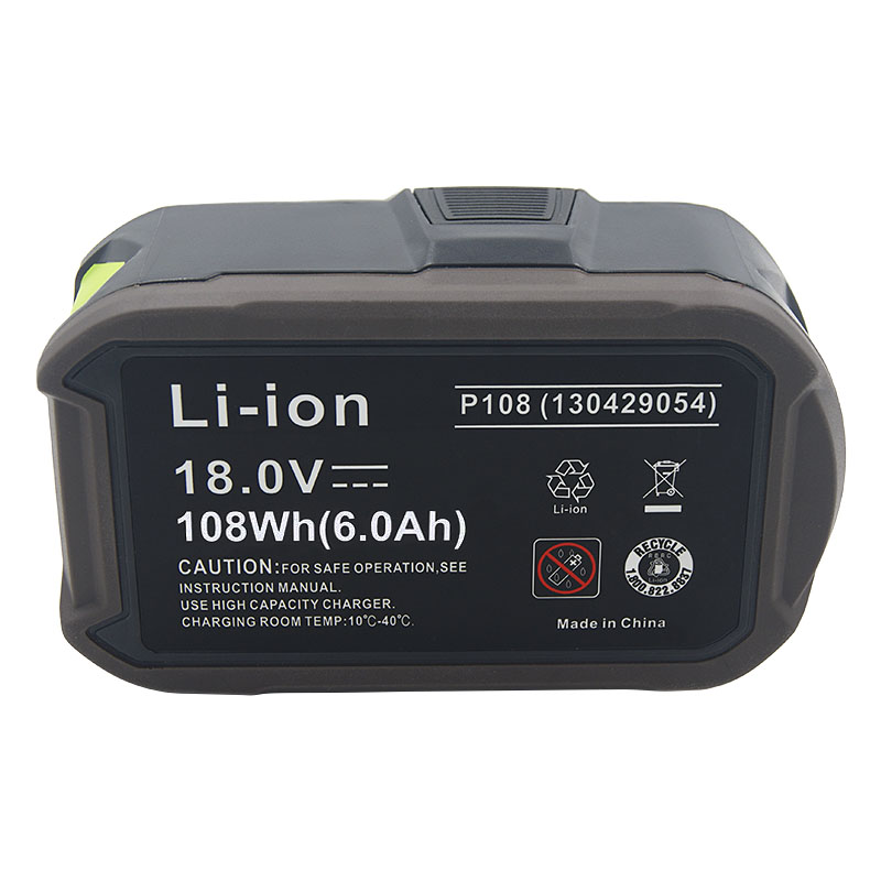 Para ryobi um + 18 v 6.0ah li ion bateria recarregável p108 + novo carregador p117 para ryobi 9.6 v 18 v ni cad ni mh li ion bateria - 3