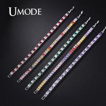 UMODE Muti Colors Tennis Bracelets & Bangles Cubic Zirconia Wedding Women Accessories Wholesale Jewelry Lots UB0178