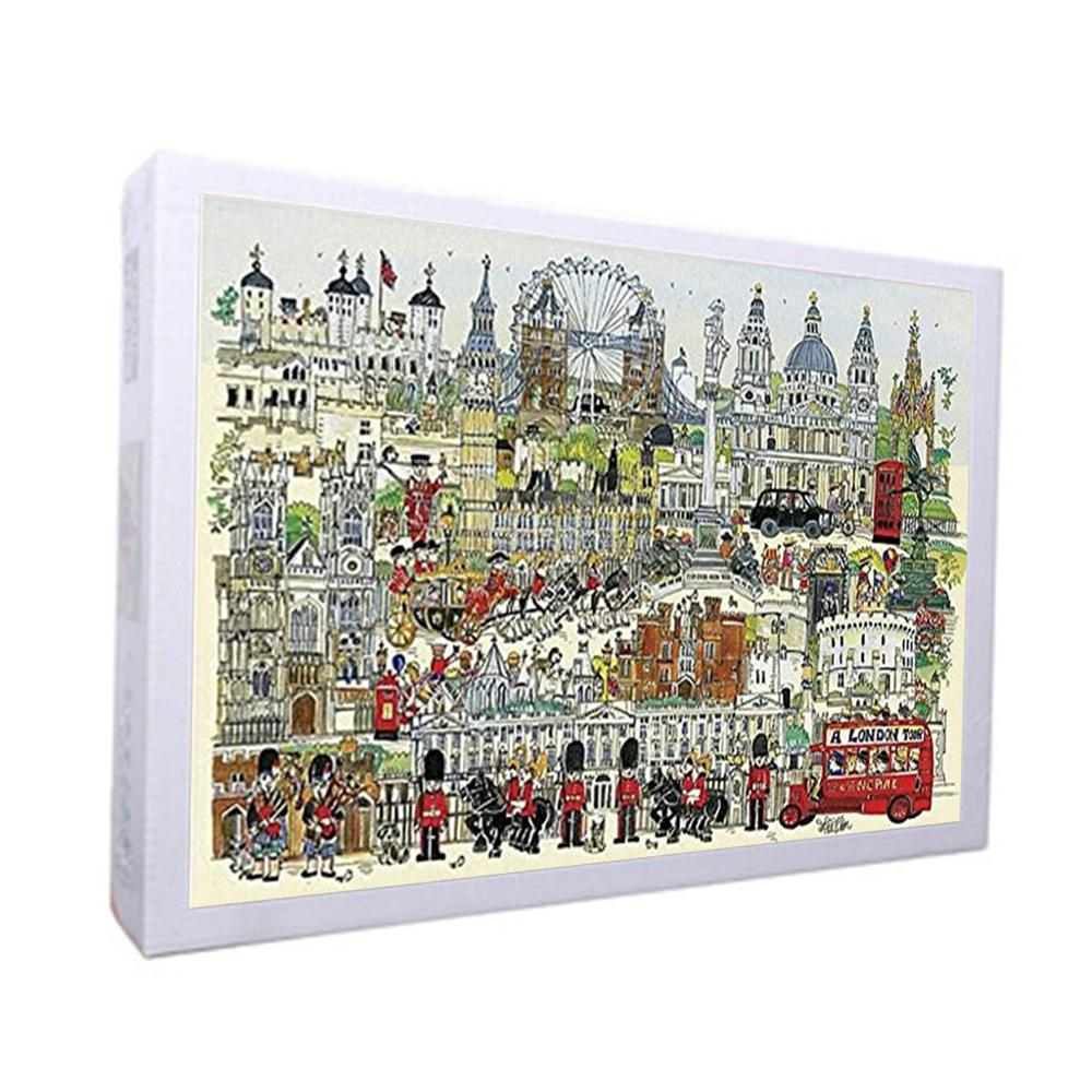 Jigsaw Puzzles 1000 Pieces Paper Assembling Picture Landscape Puzzles Toys For Adults Children Kids Games Educational