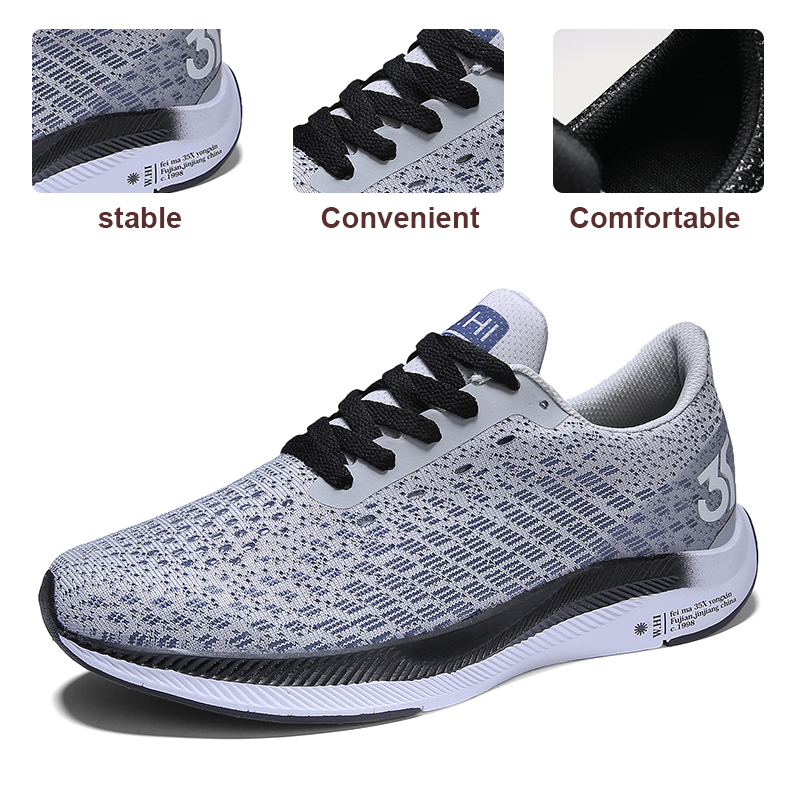 Spring Summer Men Running Shoes Light Weight Lace Up Men Sport Shoes Outdoor Walking Sneakers Men Gym trainers Big Size Footwear