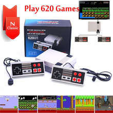 купить Mini Classic HDMI/AV TV Game Console 8 Bit Retro Video Game Console Built-In 620 Games Handheld Gaming Player 2 Controller дешево