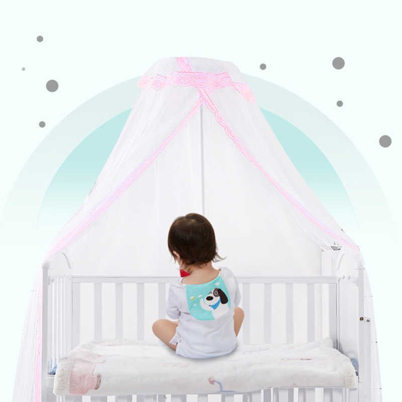 Baby Bed Mosquito Net Mesh Dome Curtain Net for Toddler Crib Cot Canopy Blue A~