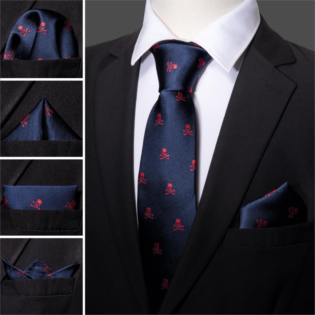 Hombre Calavera D/ía de los muertos Corbata de gato Poli/éster Seda Suave Business Gentleman Tie Corbata